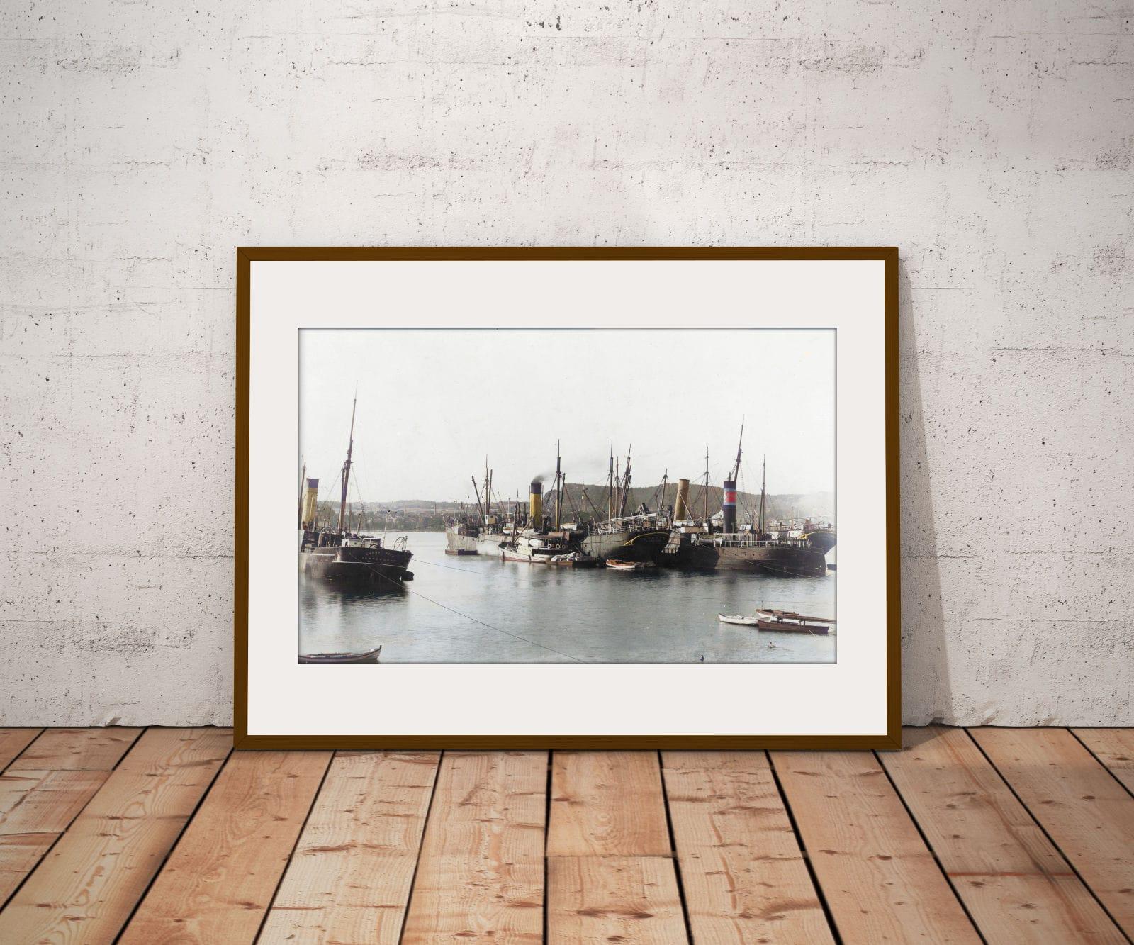 """Flk """"Bombay"""" o.a. i Sandefjord havn"""