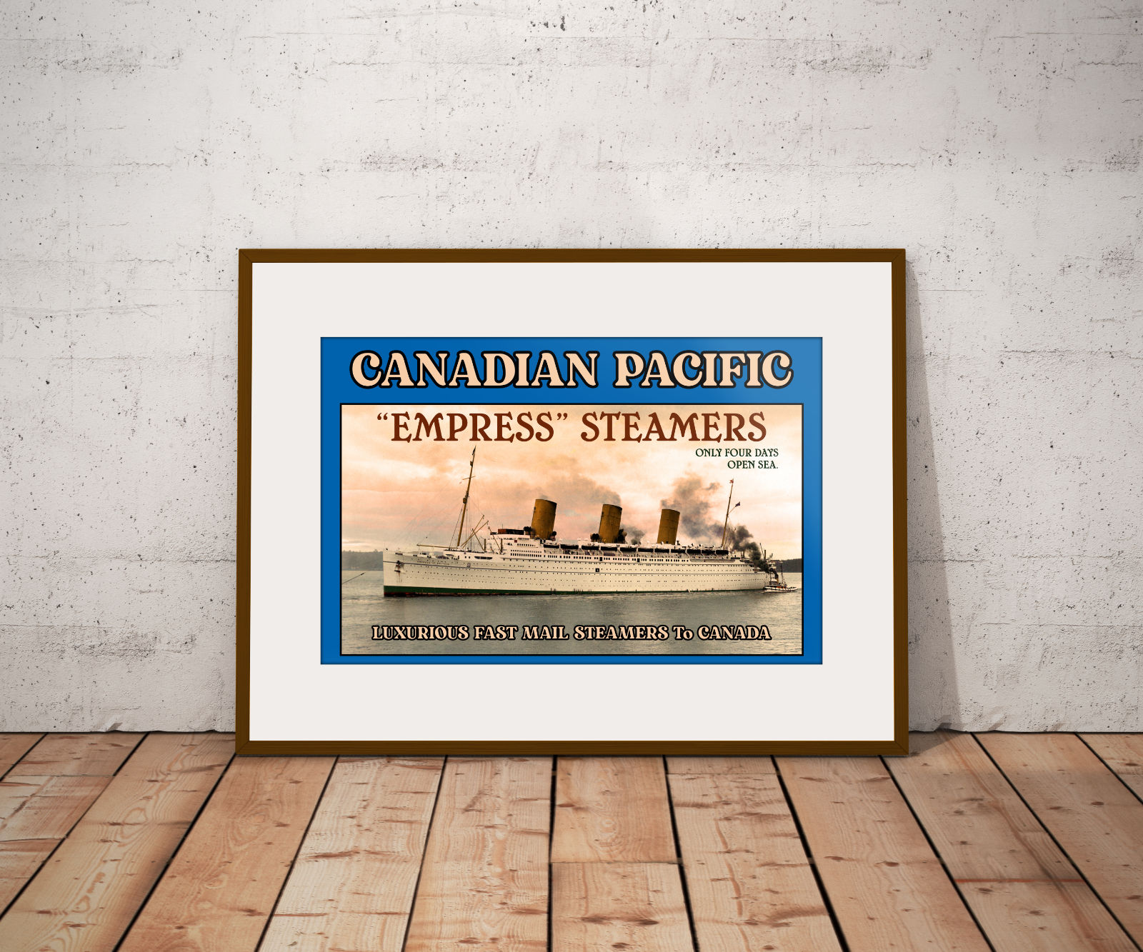 """RMS """"Empress of Britain"""" (Poster)"""