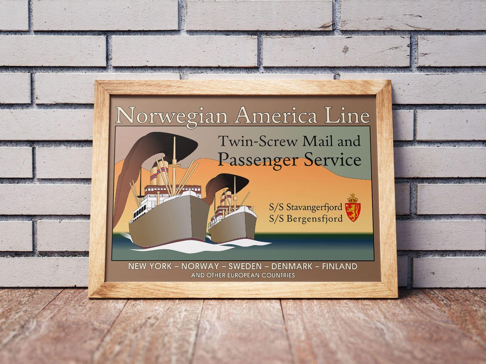 """Norwegian America Line""-plakat"
